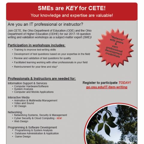 CETE SME Recruitment Poster Image